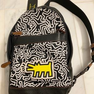 Coach and Keith Haring Graffiti Leather Backpack